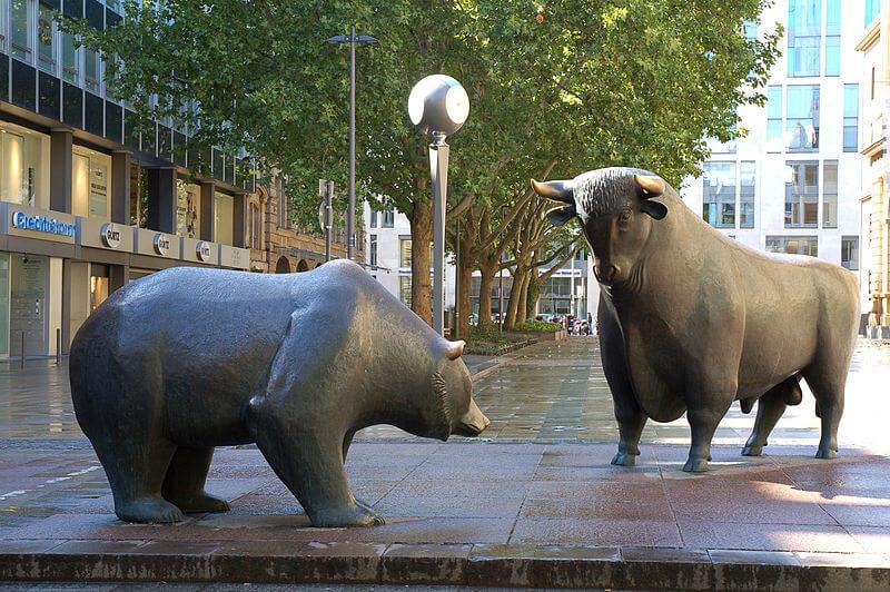 Bärenmarkt Bulle und Bär